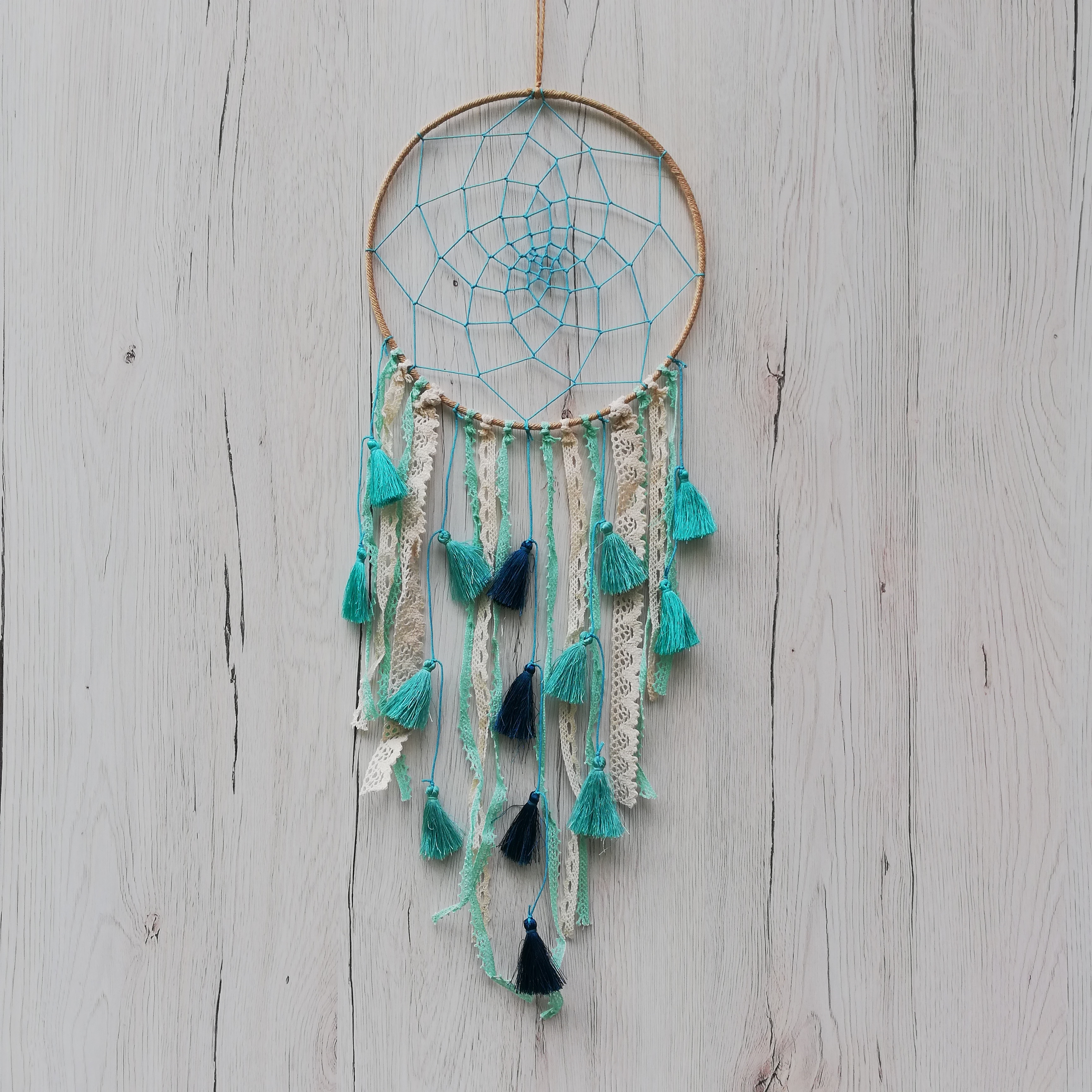 Dreamcatcher Baby Blue Tassel 3