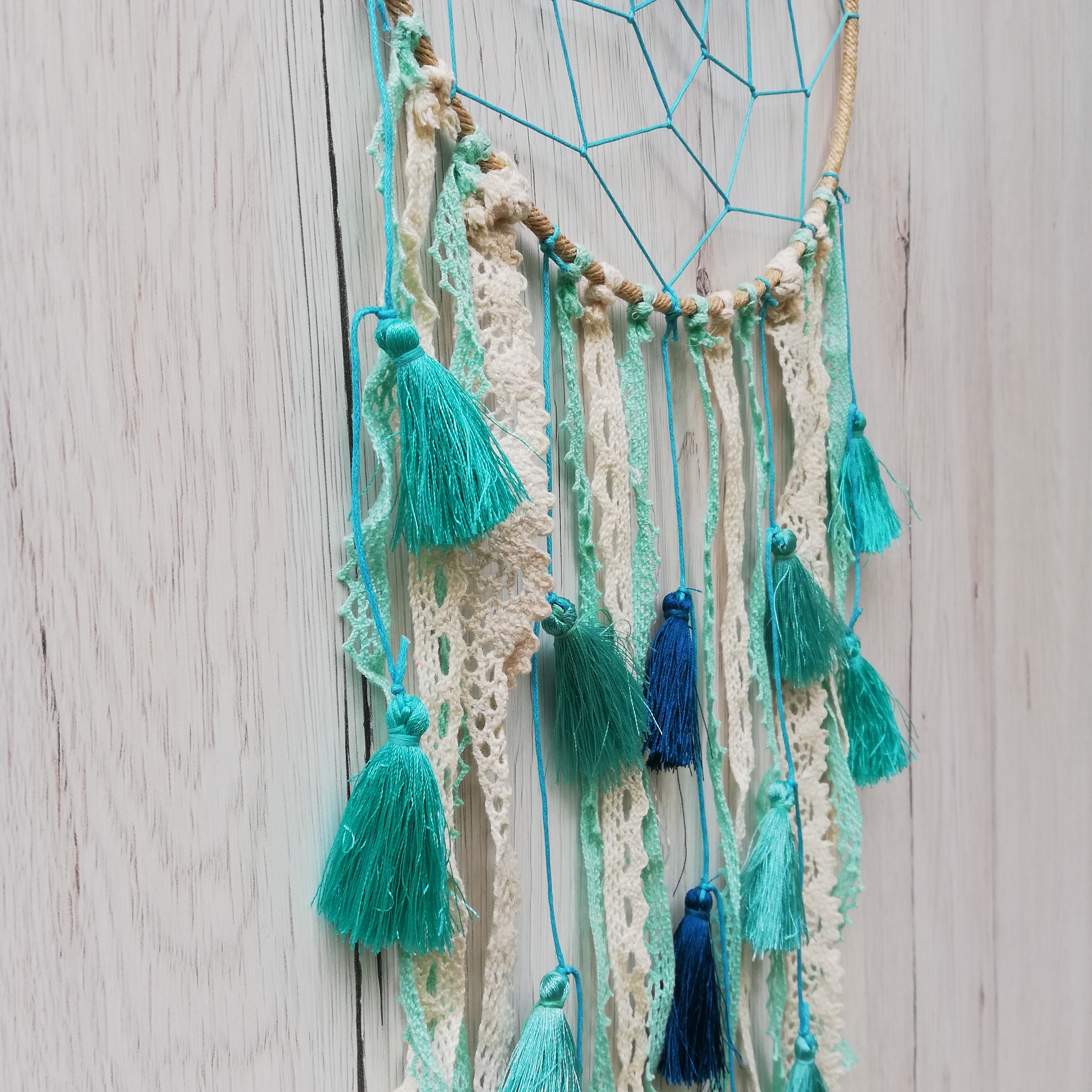 Dreamcatcher Baby Blue Tassel 2