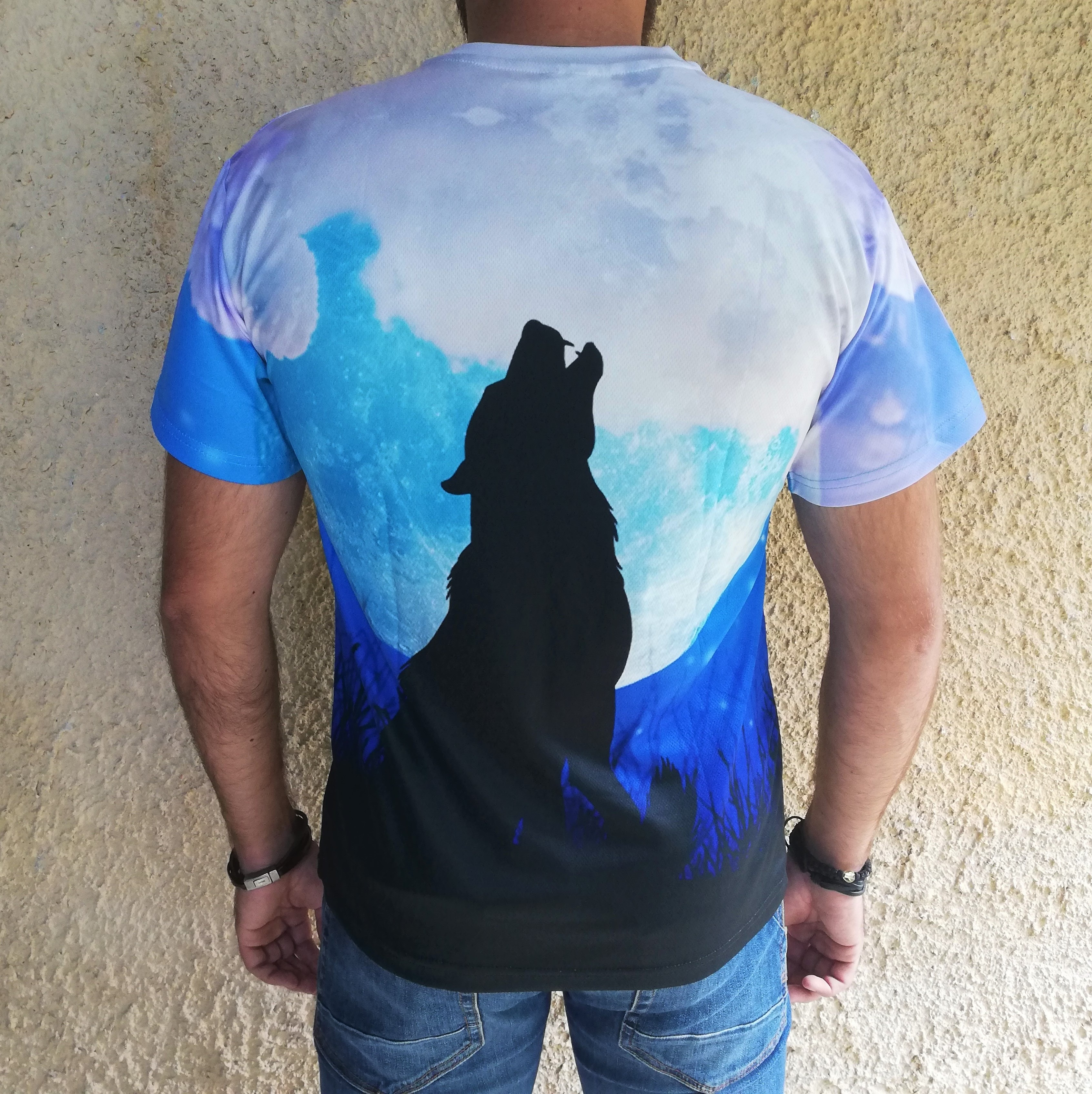 Tricou 3D Wolf Moon Howl 1
